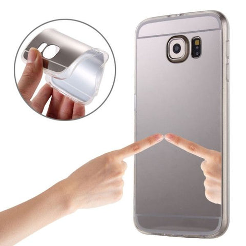 Electroplating Mirror TPU Protective Case for Samsung Galaxy Note 5 / N920(Silver)