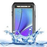 RIYO Professional and Powerful IP68 Waterproof SnowProof Shockproof Dustproof PC + TPE Protective Case with Tempered Glass Front Film Cover & Holder & Sling & Guitar Pick for Samsung Galaxy Note 5 / N920(Black) - Zasttra.com