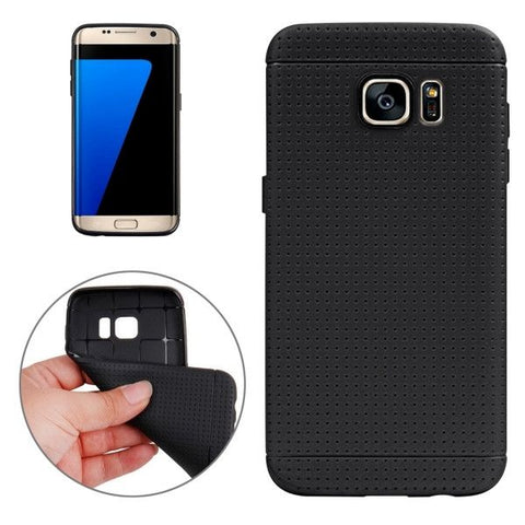 For Samsung Galaxy S7 Edge/G935 Honeycomb Surface TPU Protective Case (Black)