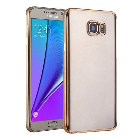 For Samsung Galaxy S7 / G930 Plating Soft TPU Protective Cover Case (Gold)