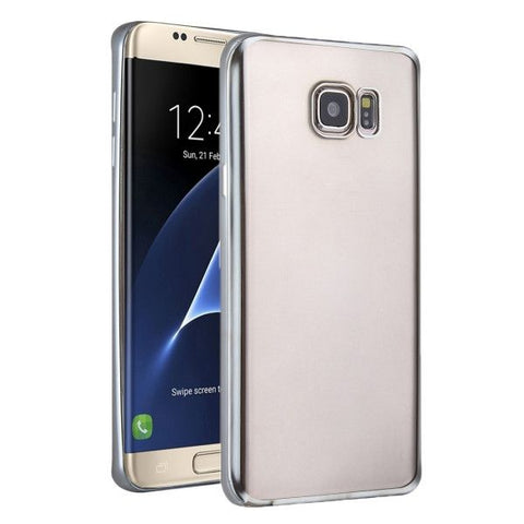 For Samsung Galaxy S7 Edge/G935 Plating Soft TPU Protective Cover Case (Silver)