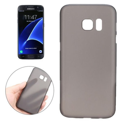 For Samsung Galaxy S7 / G930 0.3mm Ultrathin Translucent Color PP Protective Cover Case (Black)