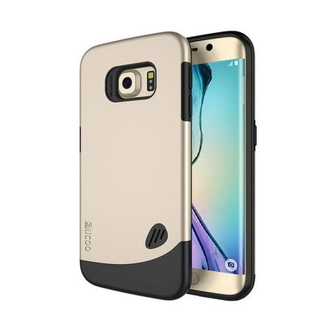 SLiCOO PC + TPU Combination Case for Samsung Galaxy S6 Edge(Gold)