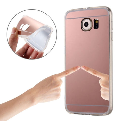 For Samsung Galaxy S7 / G930 Plating Mirror TPU Protective Case(Rose Gold)