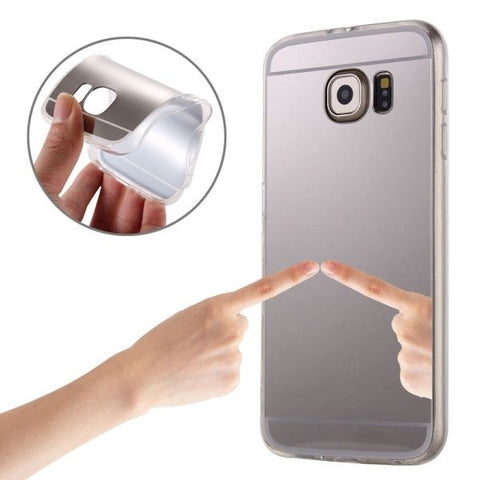 For Samsung Galaxy S7 / G930 Plating Mirror TPU Protective Case(Silver)