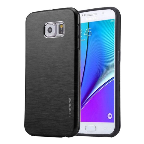 MOTOMO Brushed Texture Metal + TPU Protective Case for Samsung Galaxy Note 5 / N920(Black)