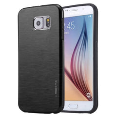 For Samsung Galaxy S7 / G930 Motomo Brushed Texture Metal + TPU Protective Case (Black)