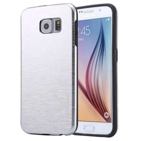 For Samsung Galaxy S7 / G930 Motomo Brushed Texture Metal + TPU Protective Case (Silver)