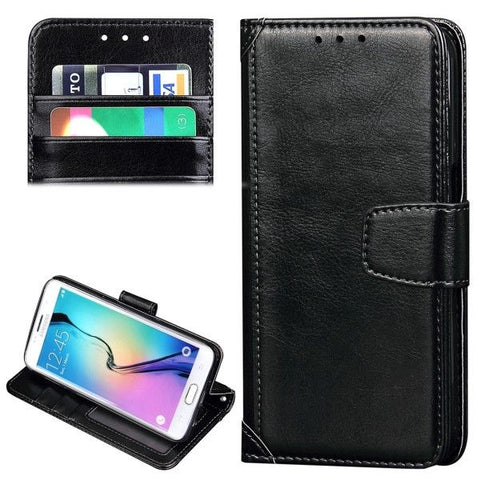 For Samsung Galaxy S7 / G930 Crazy Horse Texture Horizontal Flip Leather Case with Holder & Card Slots & Wallet & Photo Frame (Black)