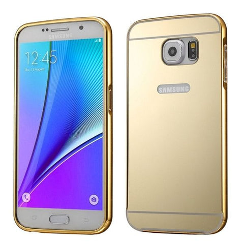 Push-pull Style Metal Plating Bumper Frame + Acrylic Back Cover Combination Case for Samsung Galaxy Note 5 / N920(Gold)