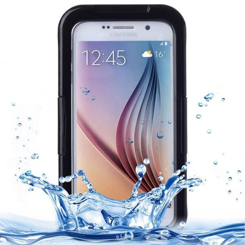 IPX8 Waterproof PVC Case with Touch Responsive Front for Samsung Galaxy S6(Black)