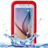 For Samsung Galaxy S6 IPX8 Waterproof PVC Case with Touch Responsive Front (Red) - Zasttra.com