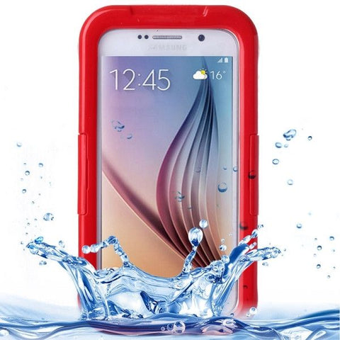 For Samsung Galaxy S6 IPX8 Waterproof PVC Case with Touch Responsive Front (Red)
