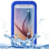 For Samsung Galaxy S6 IPX8 Waterproof PVC Case with Touch Responsive Front (Dark Blue) - Zasttra.com
