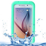 For Samsung Galaxy S6 IPX8 Waterproof PVC Case with Touch Responsive Front (Green) - Zasttra.com