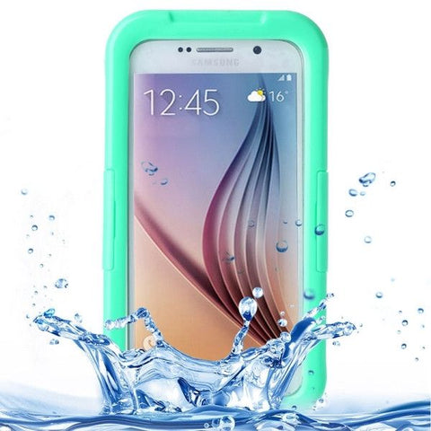 For Samsung Galaxy S6 IPX8 Waterproof PVC Case with Touch Responsive Front (Green)