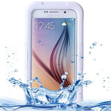 For Samsung Galaxy S6 IPX8 Waterproof PVC Case with Touch Responsive Front (White) - Zasttra.com