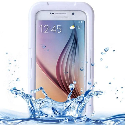 For Samsung Galaxy S6 IPX8 Waterproof PVC Case with Touch Responsive Front (White)