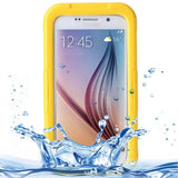 IPX8 Waterproof PVC Case with Touch Responsive Front for Samsung Galaxy S6(Yellow) - Zasttra.com