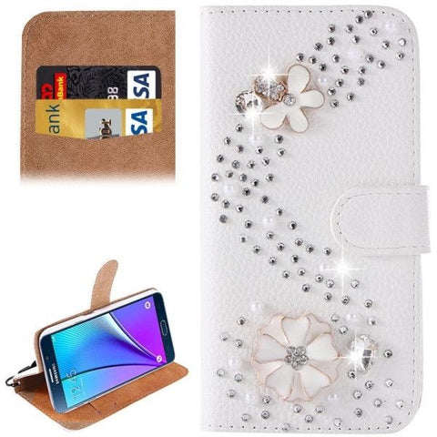 S Line Diamond Encrusted Pattern Horizontal Flip Leather Case with Holder & Card Slots for Samsung Galaxy Note 5 / N920