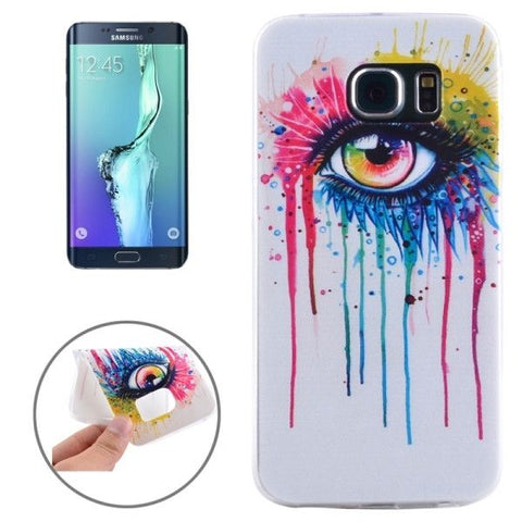Ultrathin Eye Pattern TPU Protective Case for Samsung Galaxy S6 Edge+ / G928