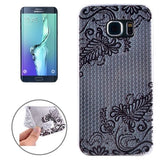 Ultrathin Embossed Flowers Pattern TPU Protective Case for Samsung Galaxy S6 Edge+ / G928 - Zasttra.com