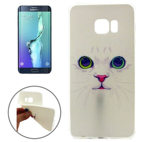 Lovely Cat Pattern TPU Protective Case for Samsung Galaxy S6 Edge+ / G928