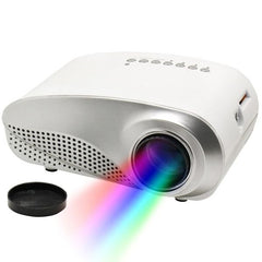 RD802 1080P HD Mini LED Projector for Home Multimedia Cinema, Support  AV / TV / VGA / USB / HDMI / SD(White)(DEMO)