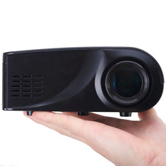 X6 Full HD 1080P 100LM Mini LED Home Theater Projector with Remote Control, Support HDMI / VGA / SD / RCA(Black)