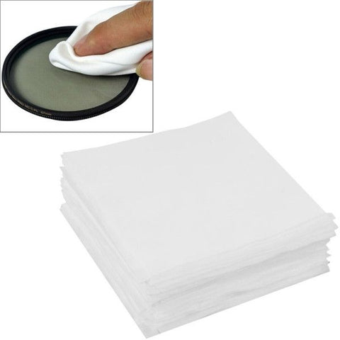 9.8 x 9.8cm Specialized LCD Screen Lens Glasses Cleaning Cloth for Camera / Mobile Phone, Pack of 100