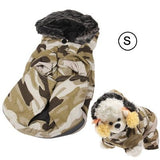 Winter Camouflage Style Coat for Dogs with Zipper ( Size: S)