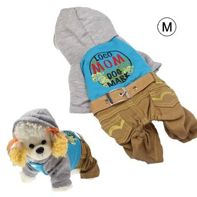 Spring & Autumn Western Denim Clothes for Dogs, Blue (Size: M)