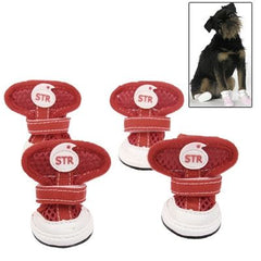 New Fashion Anti-Skidding STR Dog Shoes, Size: 1# (Red)