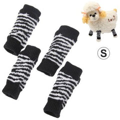 Black and White Stripe Style Pet Dog Cat Socks, Size: S