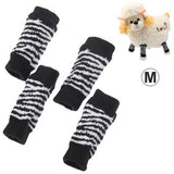 Black and White Stripe Style Pet Dog Cat Socks, Size: M - Zasttra.com