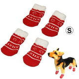 Cute Snowflake Pattern Cotton Non-slip Pet Christmas Socks,Size: S - Zasttra.com