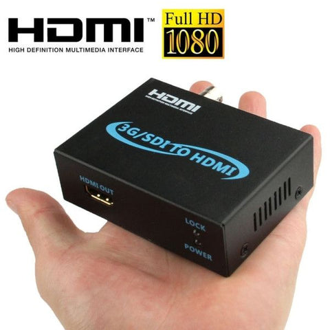 Full HD Output 1080P SDI To HDMI Converter 3G-SDI to HDMI for Driving Monitor, Model: AY-3501(Black)