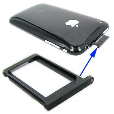 Sim Card Tray Holder for iPhone 3G, iPhone 3GS (Black) , OEM version