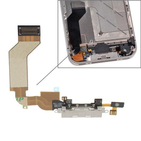 High Quality Dock Connector Charging Port Flex Cable for iPhone 4S