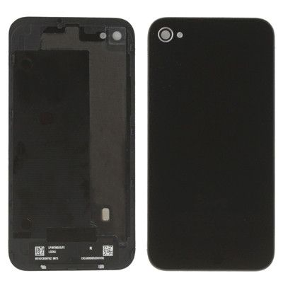 High Quality Version Glass Back Cover for iPhone 4S(Black)
