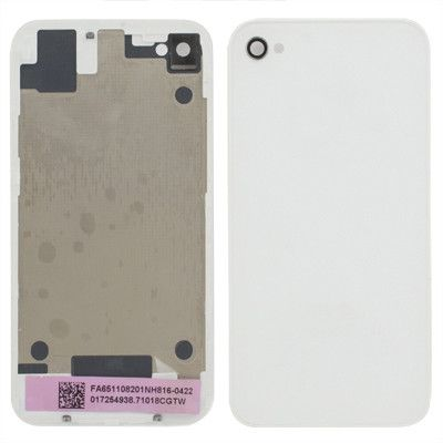 High Quality Version Glass Back Cover for iPhone 4S(White)