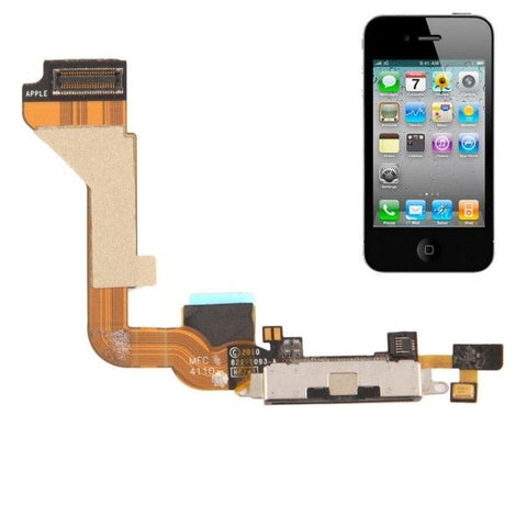 New High Quality Tail Connector Charger Flex Cable for iPhone 4(Black)