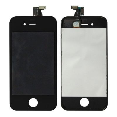 3 in 1 (New High Quality LCD, Touch Pad, LCD Frame) Digitizer Assembly for iPhone 4(Black)