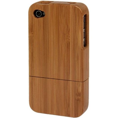 Bamboo Material Detachable Case for iPhone 4 & 4S