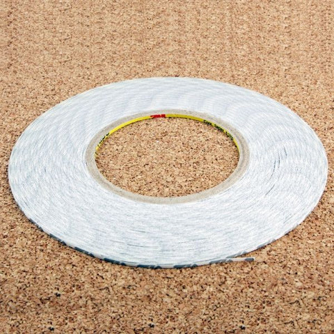 2mm 3M Double Sided Adhesive Sticker Tape for iPhone / Samsung / HTC Mobile Phone Touch Screen Repair, Length: 50m (White)