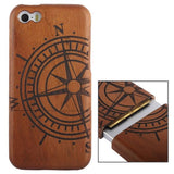 Woodcarving Ship Navigation Wheel Pattern Detachable Rosewood Material Case for iPhone 5C - Zasttra.com