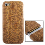 Woodcarving Mount Pattern Detachable Bamboo Material Case for iPhone 5C - Zasttra.com
