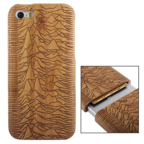 Woodcarving Mount Pattern Detachable Bamboo Material Case for iPhone 5C