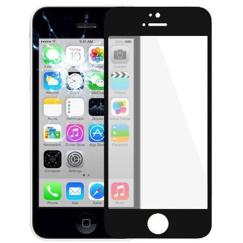 Front Screen Outer Glass Lens / LCD Mirror for iPhone 5C(Black)