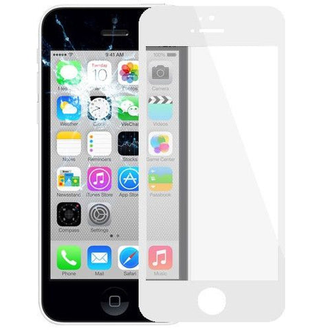 Front Screen Outer Glass Lens / LCD Mirror for iPhone 5C(White)